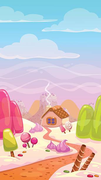candy welt illustrationen - wackelpuddingkekse stock-grafiken, -clipart, -cartoons und -symbole
