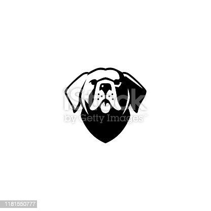 cane corso dog head mastiff italy vector icon illustration
