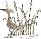 cane with bird