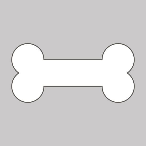 stockillustraties, clipart, cartoons en iconen met honden bot pictogram. vector - hondenkluif