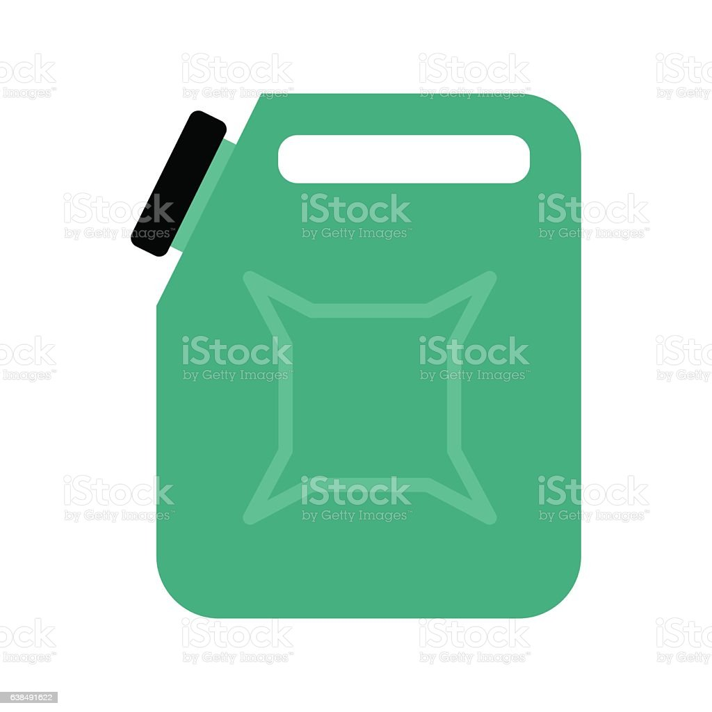 Canister isolated. jerrican of gasoline on white background. Con – Vektorgrafik