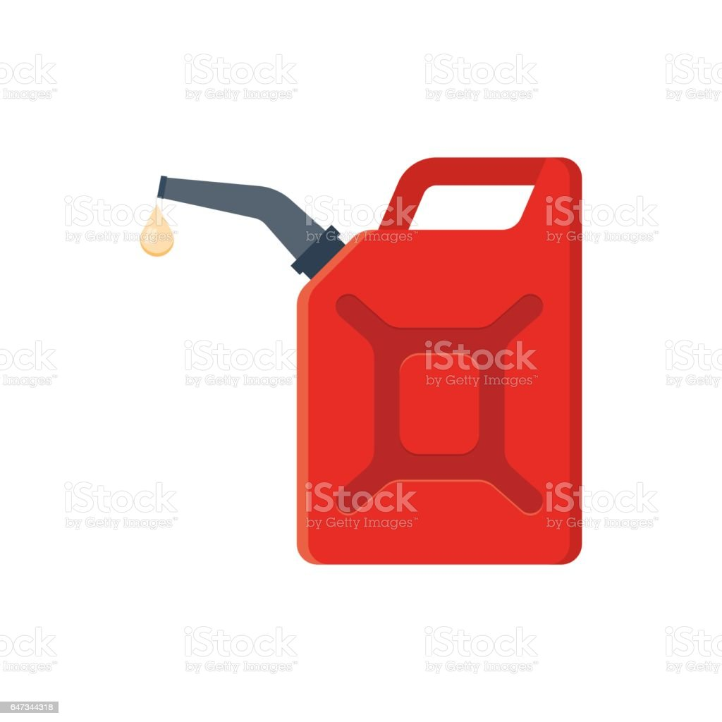 Kanister mit Benzin. – Vektorgrafik