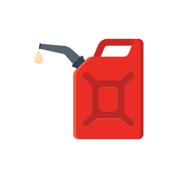 stockillustraties, clipart, cartoons en iconen met jerrycan benzine. - voorraadbus