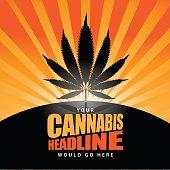 Cannabis burst background