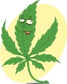 Cannabis funny leaf