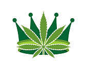 Cannabis king with crown