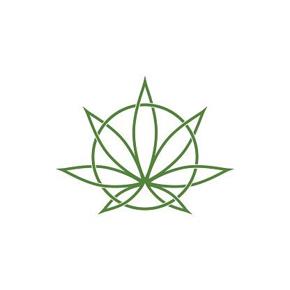 Cannabis leaf health nature vector image