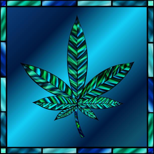 Cannabis Leaf vector art illustration
