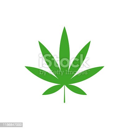 Cannabis leaf design vector isolated white background