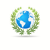 Cannabis leafDelivery cannabis. Illustration of a delivery truck icon with a marijuana leaf. Drug consumption Marijuana Legalization