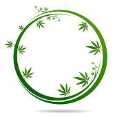Cannabis marijuana design graphics