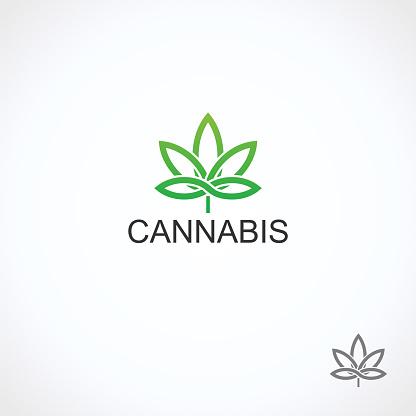 Cannabis, marijuana set. Collection cannabis icons. Vector