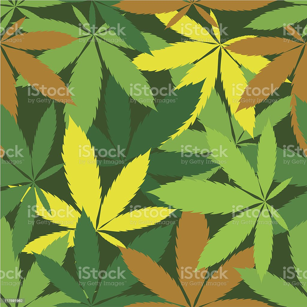 Cannabis seamless pattern royalty-free stock vector art