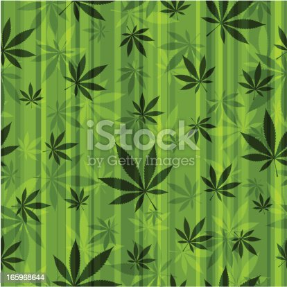 Cannabis Seamless Pattern Stock Vector Art & More Images of Backgrounds 165968644