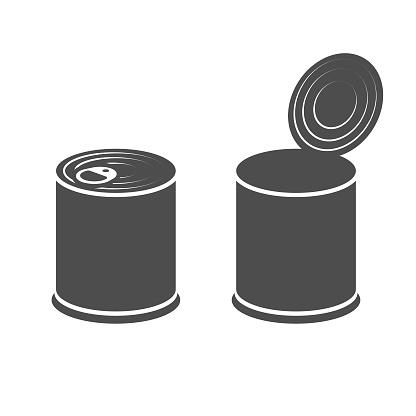 Canned Box Icon Vector Design.