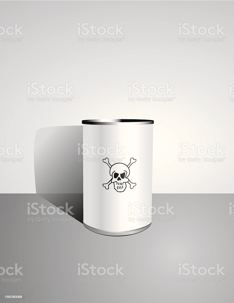 Canned Death - Vector royalty-free canned death vector stock vector art & more images of bacterium