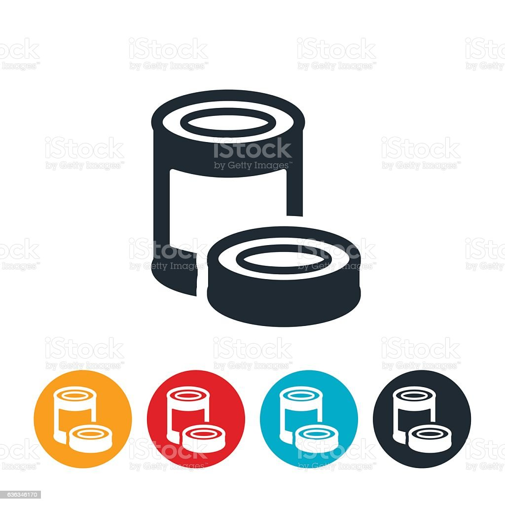 Canned Food Icon vector art illustration