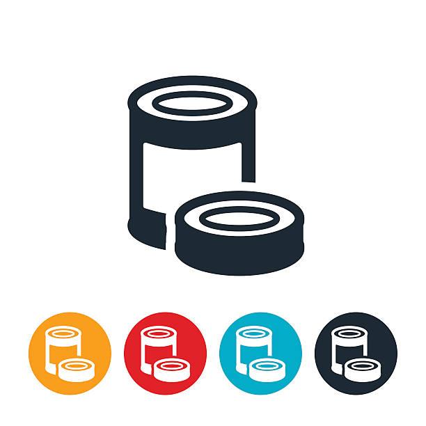 ilustrações de stock, clip art, desenhos animados e ícones de canned food icon - latão