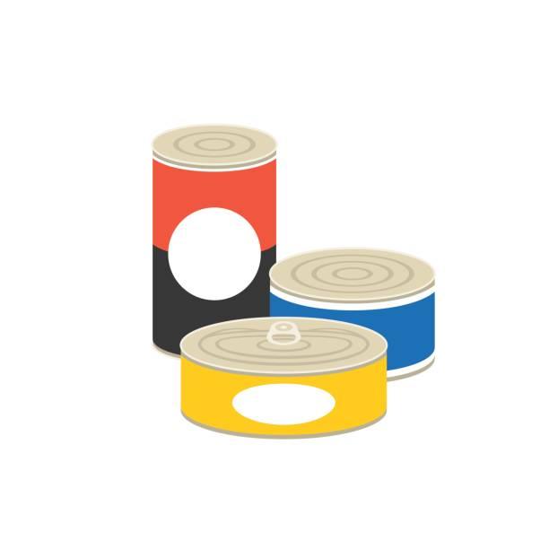 canned food illustration – artystyczna grafika wektorowa