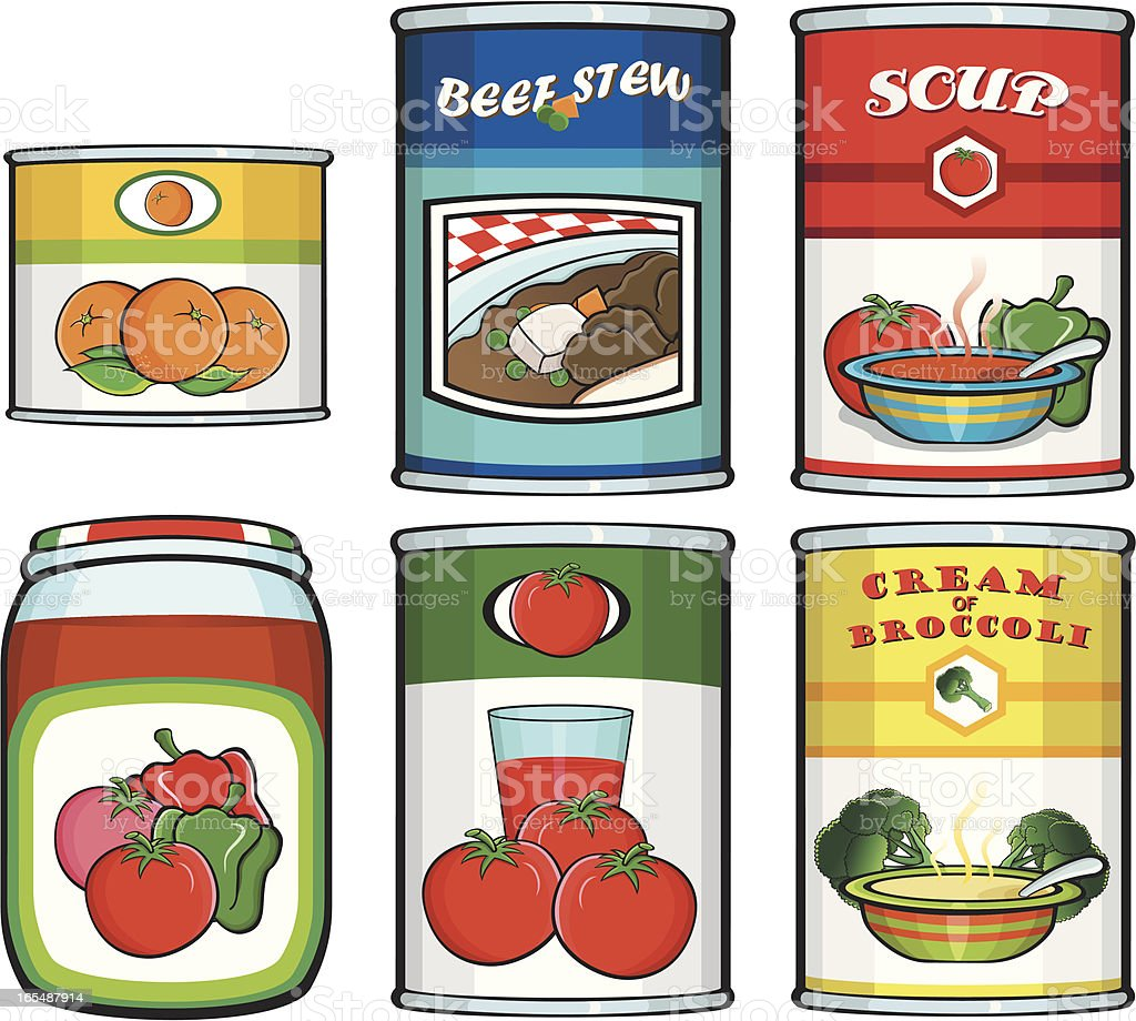 Canned food vector art illustration