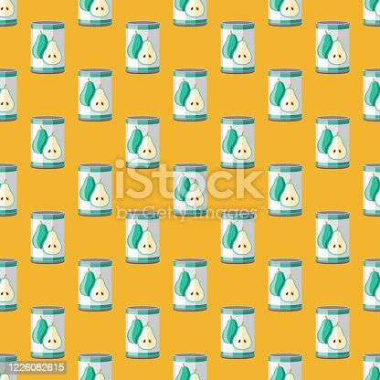 istock Canned Pears Food Pattern 1226082615