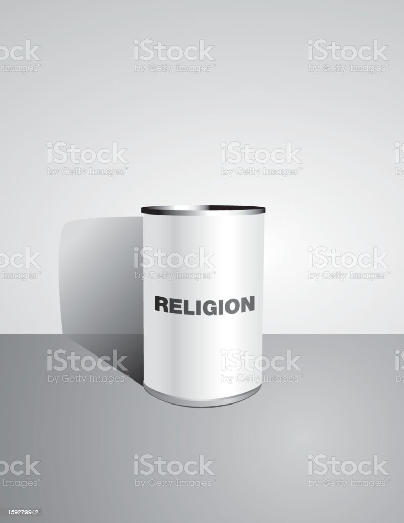 Canned Religion - Vector royalty-free stock vector art