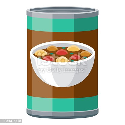 istock Canned Stew Icon on Transparent Background 1284314445