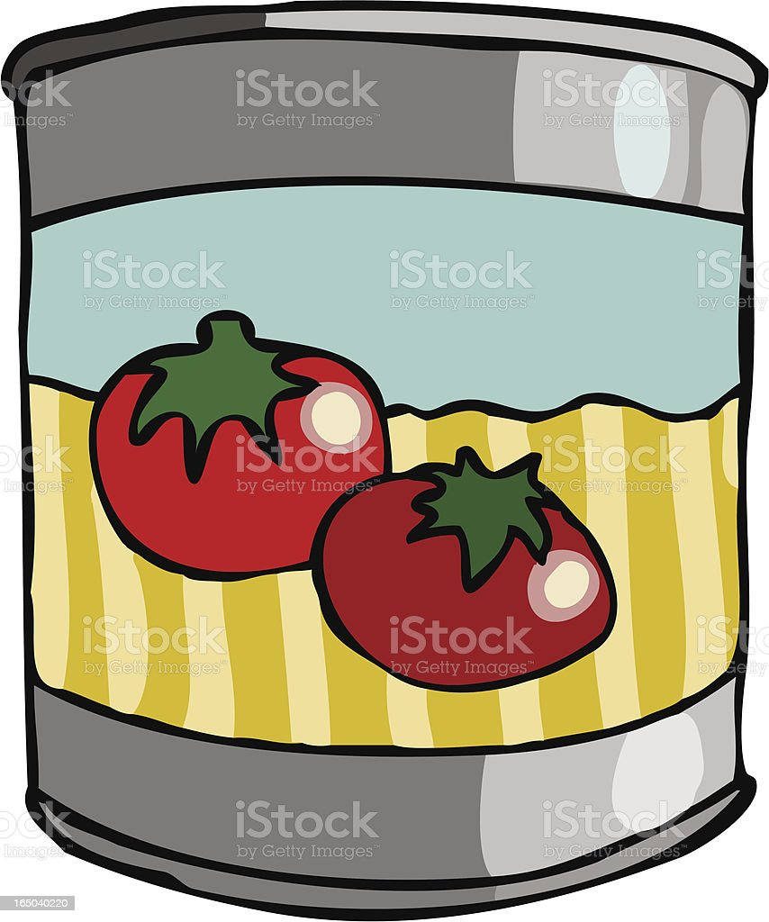 canned tomatos vector art illustration