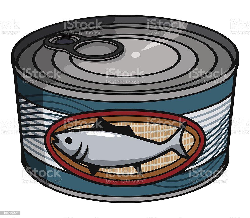 canned tuna vector art illustration