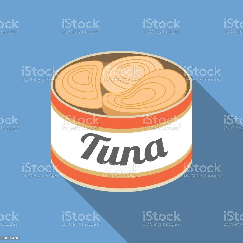 Conservas de atún - ilustración de arte vectorial