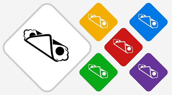 Cannoli Color Diamond Vector Icon