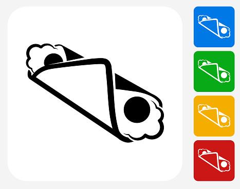 Cannoli Icon Flat Graphic Design