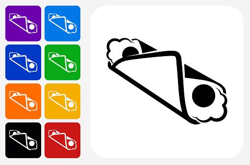 Cannoli Icon Square Button Set