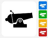 Cannon Icon Flat Graphic Design