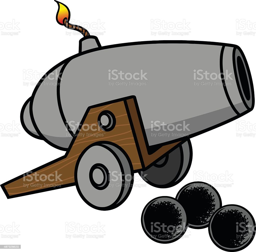 royalty free cartoon of civil war cannon clip art, vector images