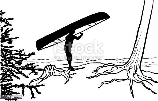 istock Canoe Adventures Portage SIlhouette 1251461298