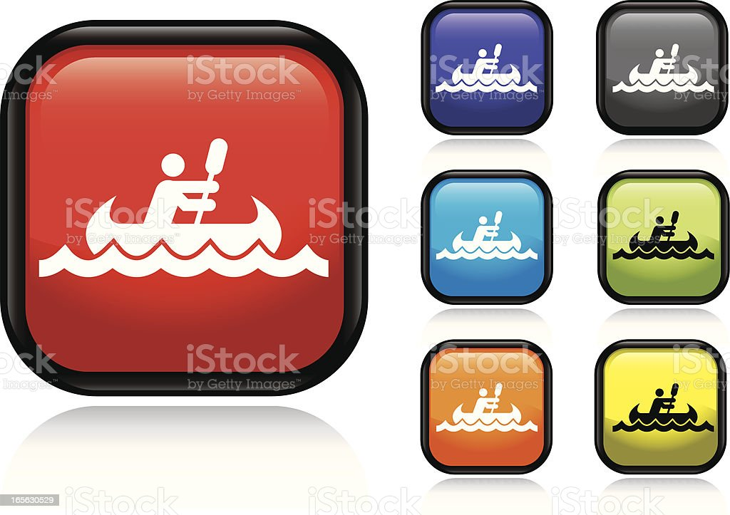 A vector illustration of a Canoe icon with the option of many...