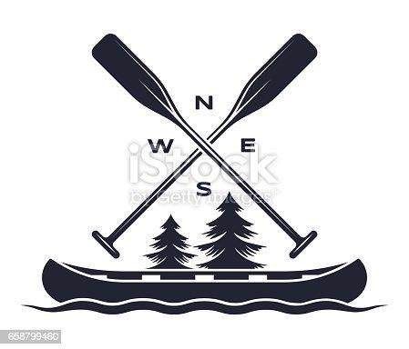 istock Canoe Oar Adventure Symbol 658799460