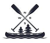 Canoe Oar Adventure Symbol