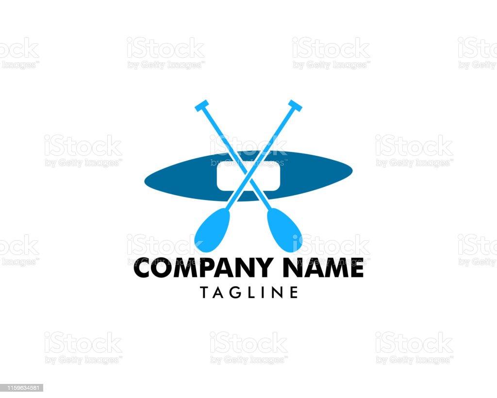 Canoe or Kayaking Logo Designs Template
