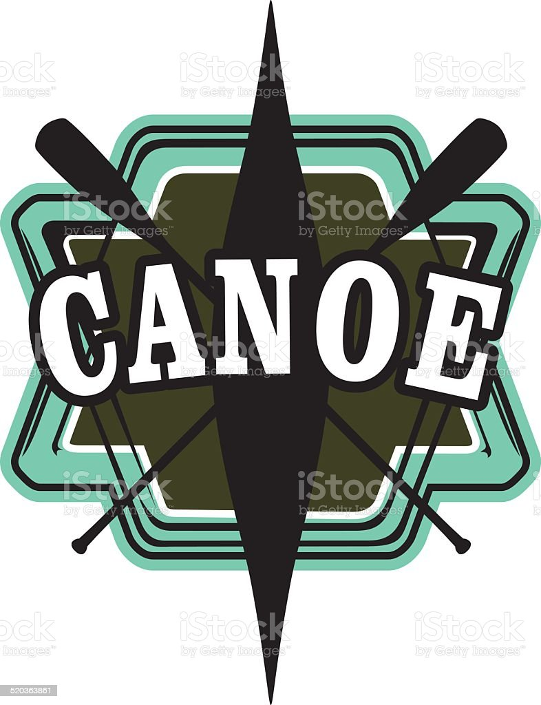 Kanu-shield – Vektorgrafik