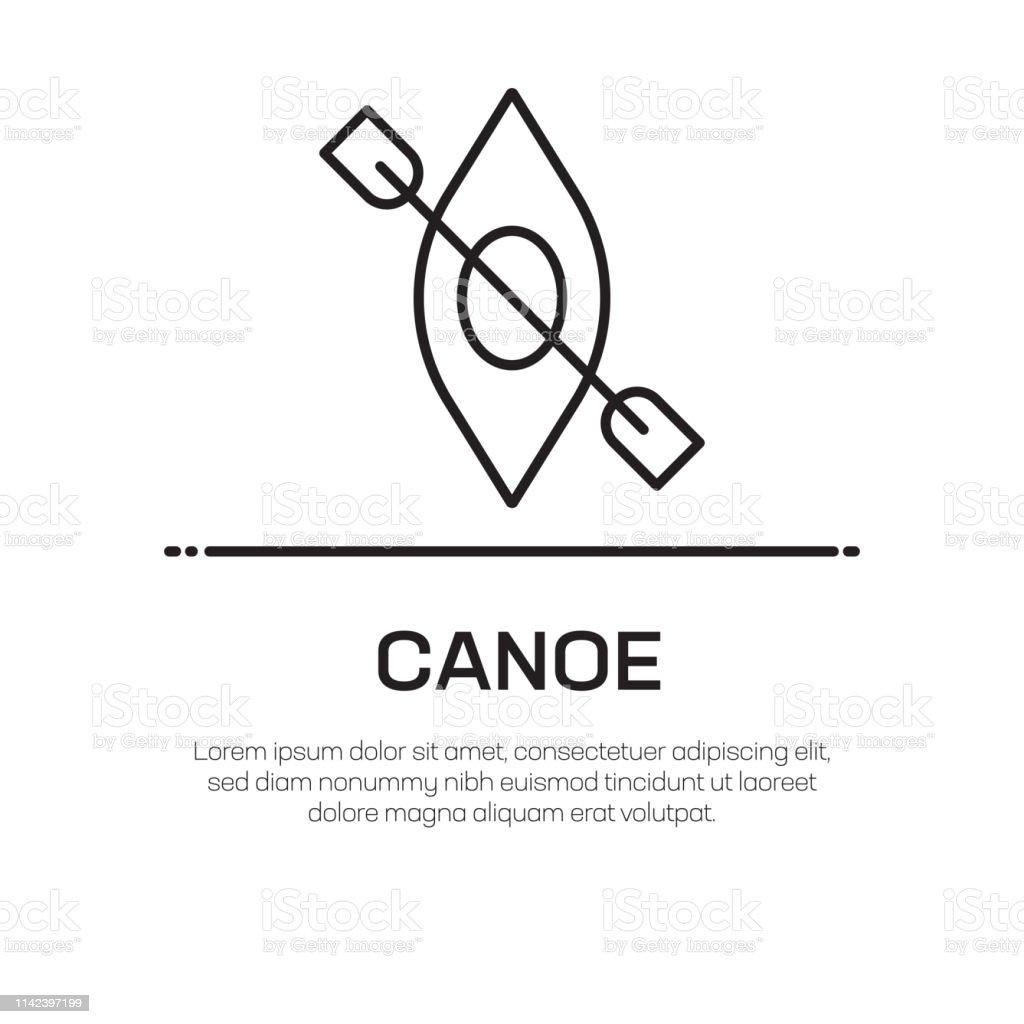Canoe Vector Line Icon - Simple Thin Line Icon, Premium Quality...
