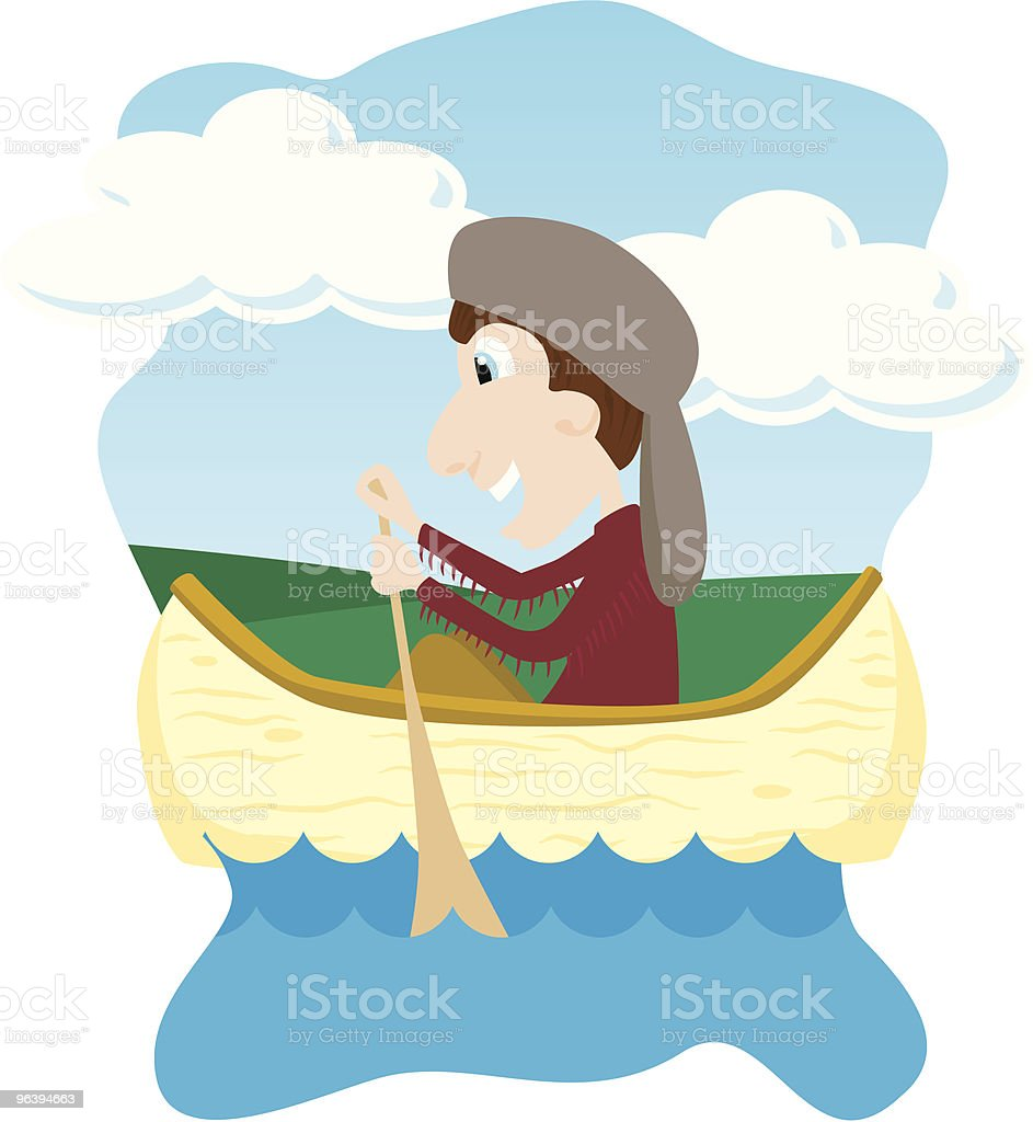 Canoeing royalty-free stock vector art