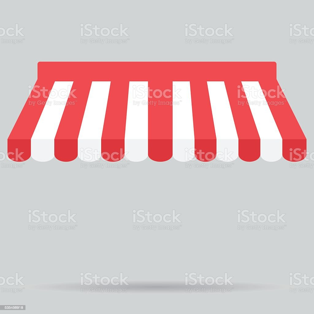 Canopy awning striped store element design vector art illustration