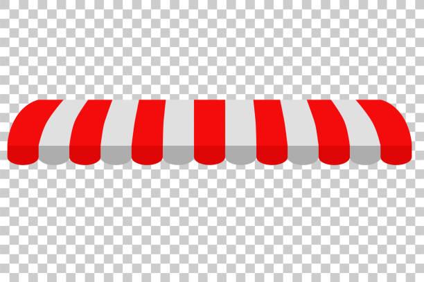 haube, rot und weiß, im hintergrund der transparenzeffekt - stoffmarkt stock-grafiken, -clipart, -cartoons und -symbole
