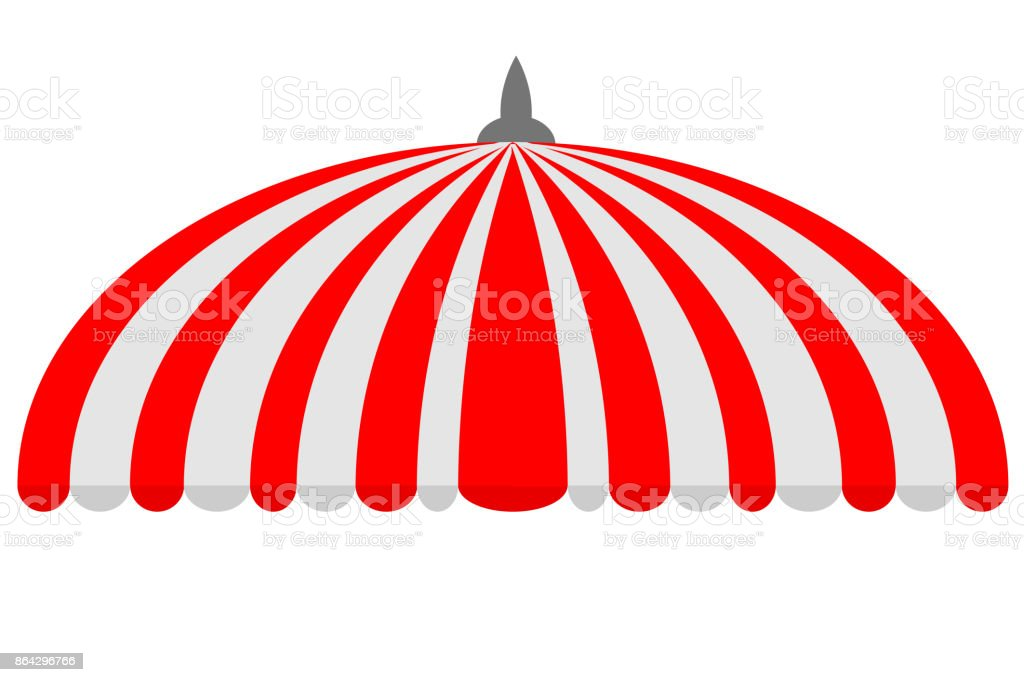 Canopy,Half Circle, Red and White royalty-free canopyhalf circle red and white stock vector art & more images of awning