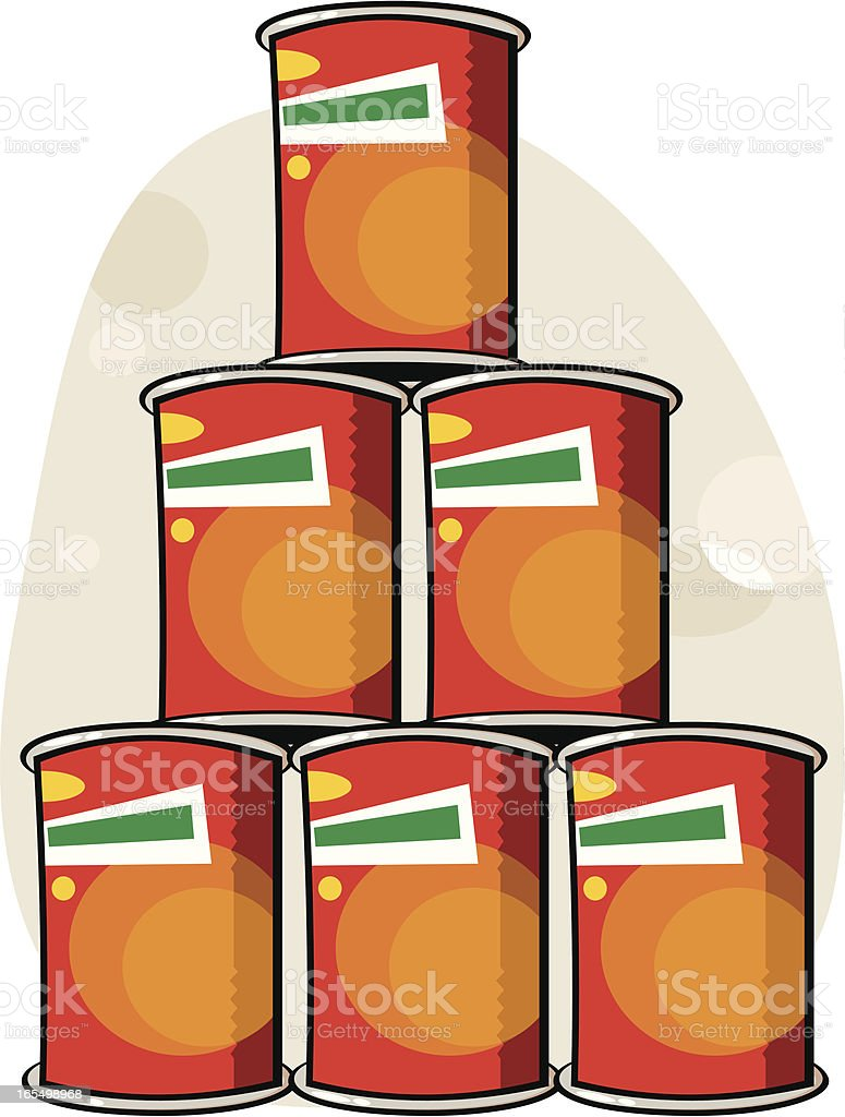 latas de conserva vector art illustration