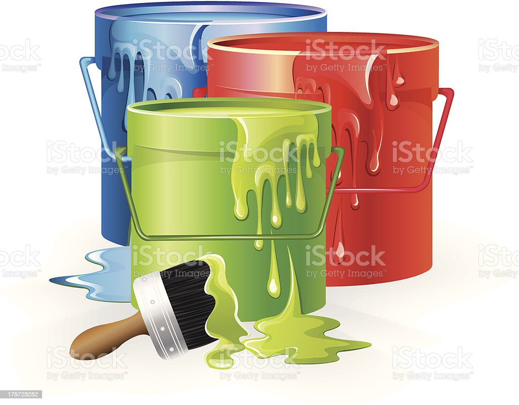 Cans Of Paint royalty-free cans of paint stock vector art & more images of blue