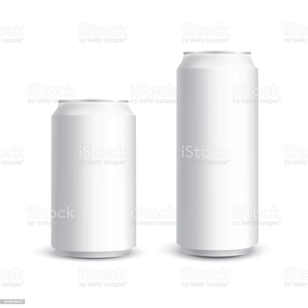 Cans photorealistic vector vector art illustration