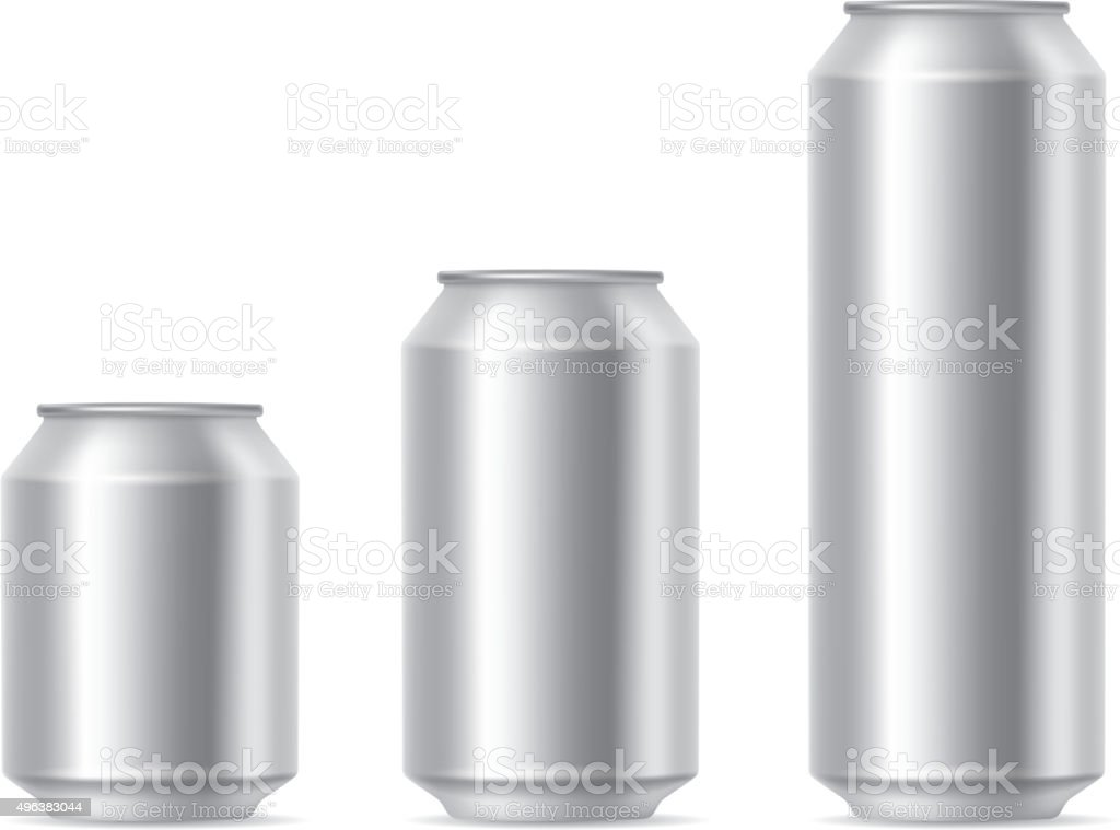 Cans vector art illustration